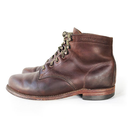 WOLVERINE 1000 MILES BROWN LEATHER LACE UP ANKLE BOOTS