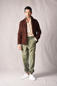 vintage army green olive slacks pants an