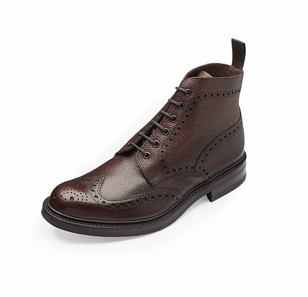 LOAKE 1880 Bedale Pebble Leather Lace up Ankle Boots