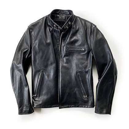 SCHOTT NYC 141 CLASSIC CAFE RACER LEATHER JACKET