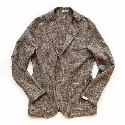 EIDOS Melange Basketweave diconstructed blazer