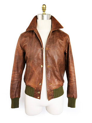 LEVIS VINTAGE CLOTHING STRAUSS LEATHER JACKET