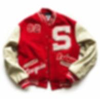 vintage football varsity jacket leather