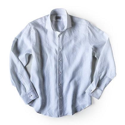 THE TBco. FRESCO WHITE ITALIAN LINEN DRESS SHIRT