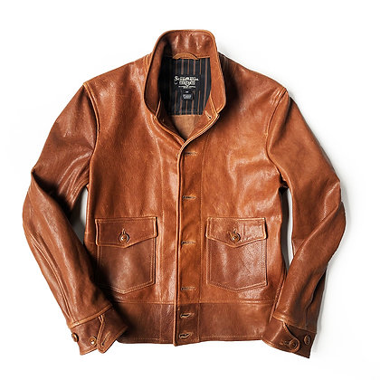 SCHOTT NYC PRINCETON BROWN LAMBSKIN JACKET