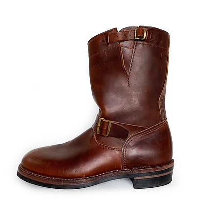 DOUBLE RL BROWN LEATHER ENGINEER BOOTS