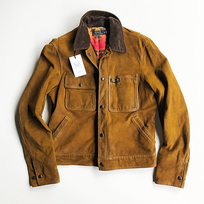 Polo Ralph Lauren Brown Suede Ranch Trucker Jacket