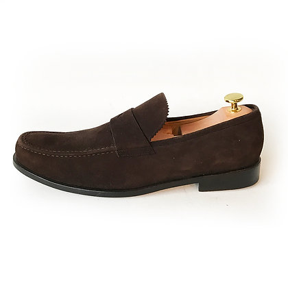 BALLY DARK BROWN SUEDE LOAFERS