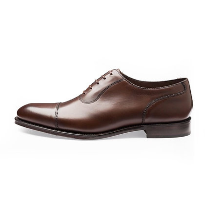 LOAKE 1880 EVANS Brown Leather Cap toe Shoes