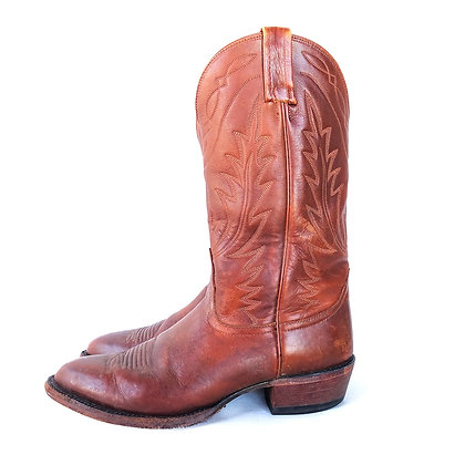 NOCONA BROWN LEATHER WESTERN BOOTS