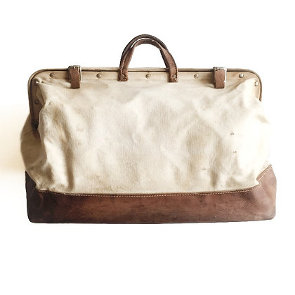 Vintage canvas/leather carry on bag