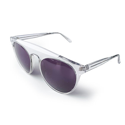 SMOKE AND MIRRORS HAND MADE IN FRANCE CLEAR ATOMIC SUNGLASSES