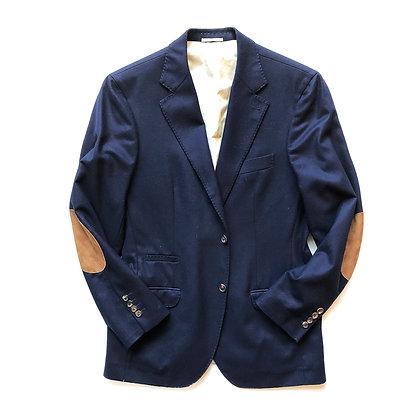BRUNELLO CUCINELLI Wool Cashmere Blend Navy Blazer