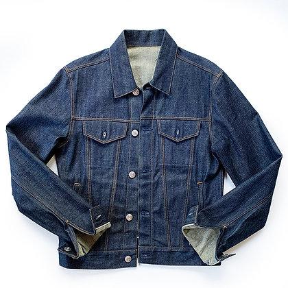 3x1 raw selvedge denim trucker jacket