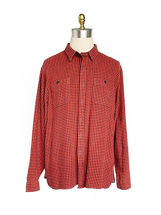 DOUBLE RL RED/BLACK CHECKERED SHIRT