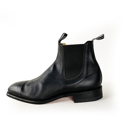 RM WILLIAMS COMFORT RM BLACK LEATHER CHELSEA BOOTS (LEATHER SOLES) size 11.5