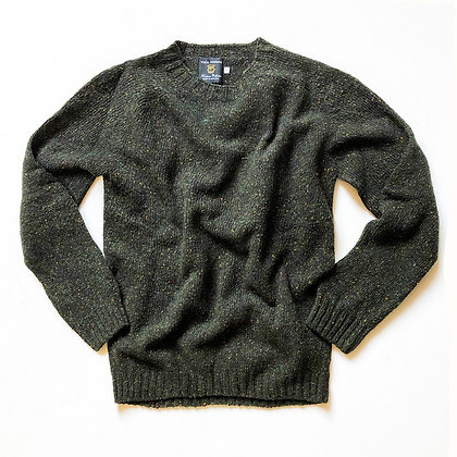 TBCo. RESERVE Green Donegal Crew Neck Sweater