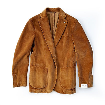 LBM 1911 TAILORED UNLINED BROWN CORDUROY JACKET