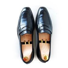 John Lobb Black leather Ashley loafers 8