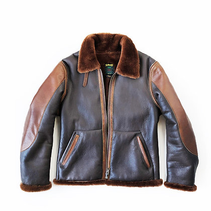 SCHOTT NYC SHEEPSKIN B-3 COAT JACKET