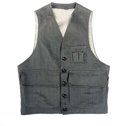 The TBCo. Heirloom Quality Linen hunter waistcoat