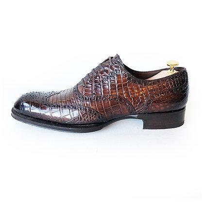 TOM FORD Alligator Brogue Wingtip Shoes Size 11T