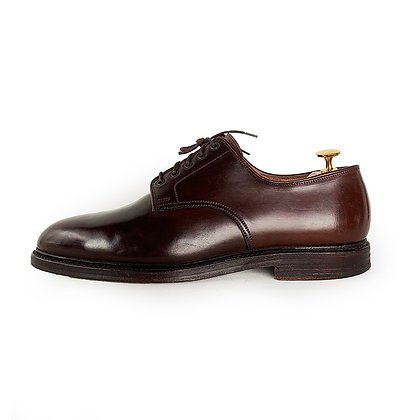 RALPH LAUREN MADE IN ENGLAND BROWN CORDOVAN LEATHER SHOES