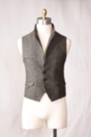 herringbone tweed bespoke made to measur