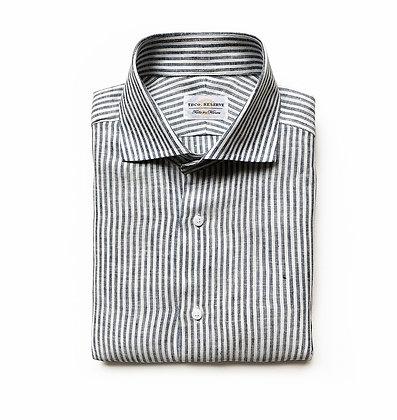 CORSO STRIPE ITALIAN LINEN DRESS SHIRT (slim cut)