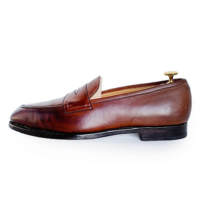EDWARD GREEN BROWN LEATHER PENNY LOAFERS