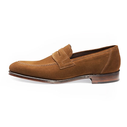 LOAKE 1880 ANSON Brown Suede Loafers