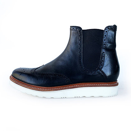 GRENSON BLACK LEATHER CHELSEA BOOTS