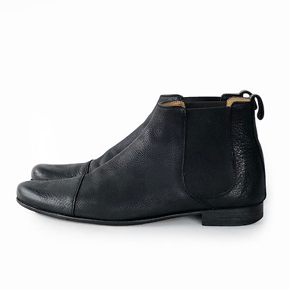 BILLY REID BLACK LEATHER CHELSEA BOOTS