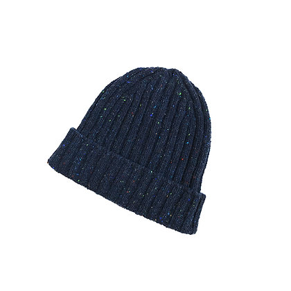 The Classic Ribbed Sailor Hat (navy blue)
