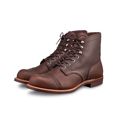 RED WING 8111 Iron Ranger Amber Harness Leather Boots