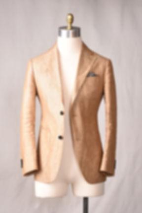 beige khaki linen unstructured unlined n