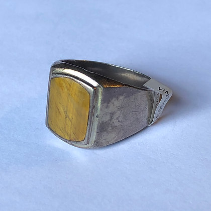 Vintage Tigers Eye Sterling Silver Ring