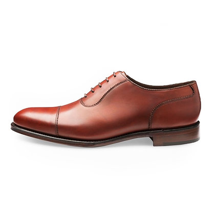 LOAKE 1880 EVANS conker Brown Leather Cap toe Shoes