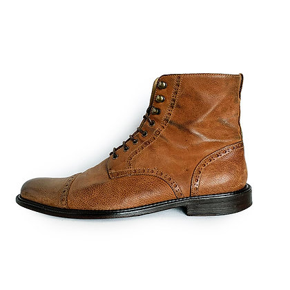 BILLY REID LIGHT BROWN LACE UP BOOTS