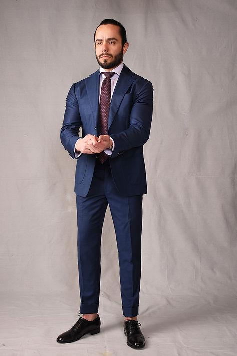 navy bespoke made to measure custom suit