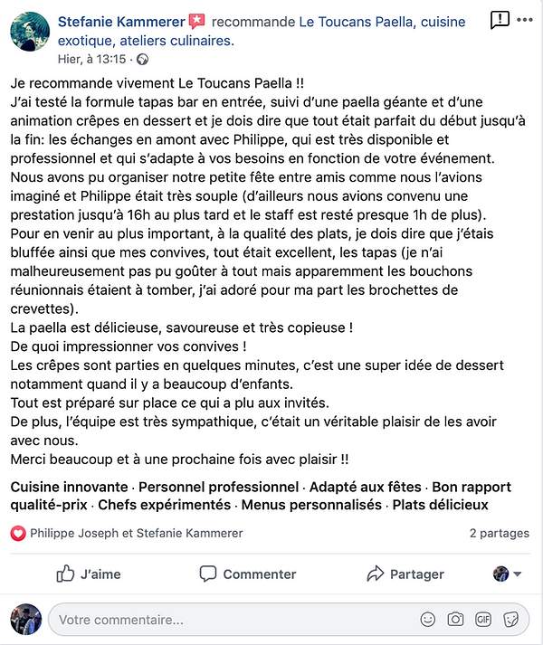 Avis Tapas Bar et Paella