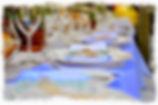 Mise en place des couverts pour un repas de mariage le TOUCANS PAELLA