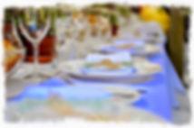 Mise en place couverts, table de cérémonie par le TOUCANS PAELLA TRAITEUR EXOTIQUE ANTILLAIS
