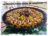 Paella Langoustes et noix de St-Jacques pour repas de mariage par le TOUCANS PAELLA