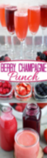 Punch Berry au Champagne
