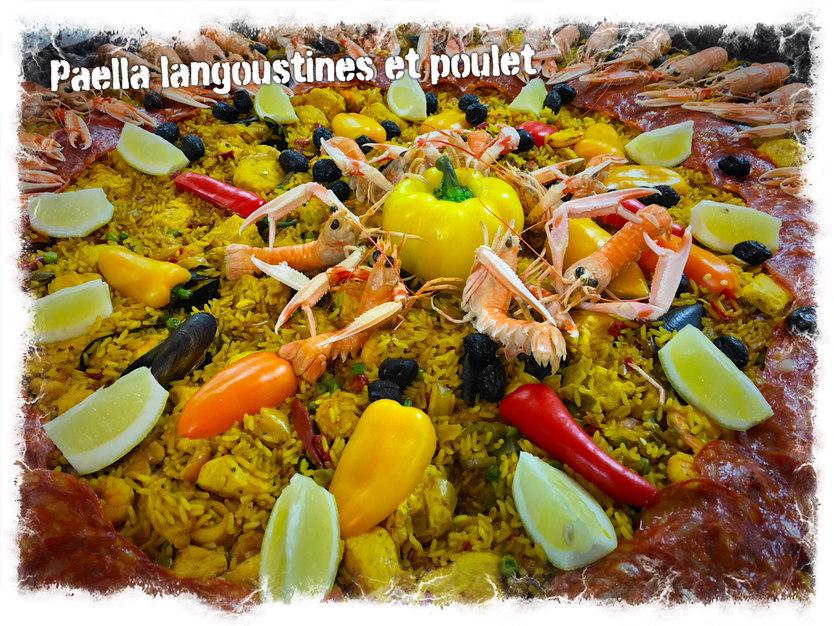 Paella riche en fruits de mer