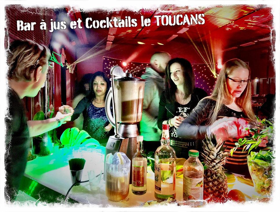 Bar à Jus et Cocktails pour soirée de mariage par le TOUCANS PAELLA