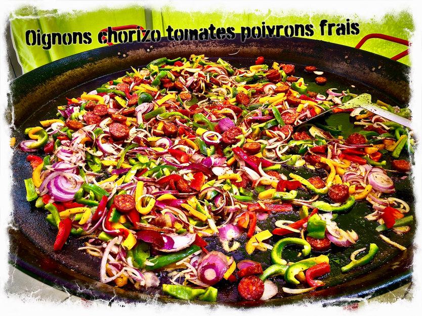 Base de Paella, produits frais