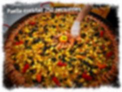 Paella cocktail 250 personnes par le TOUCANS PAELLAS