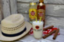 Pinacolada cocktail rhum-cuba